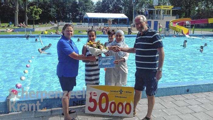 Zwembad 't Willaer verwelkomt 50.000ste bezoeker